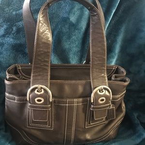 Coach Bowling Bag Leather! Good condition